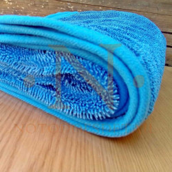 Toalla superabsorbente azul twisted pile 75x90 cm - NOTODOESDETAIL