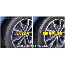 Car-Chem TYRE GEL 500ml - Comparación antes-después (fotos extraídas del vídeo de OCD) - NOTODOESDETAIL